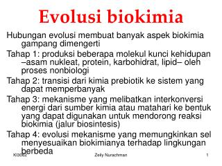 Evolusi biokimia