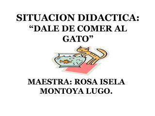 """SITUACION DIDACTICA:   """"DALE DE COMER AL GATO"""""""
