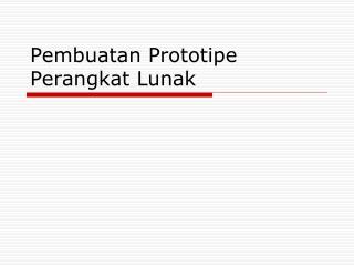 Pembuatan Prototipe Perangkat Lunak