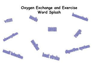 Oxygen Exchange and Exercise Word Splash