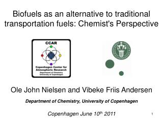 Biofuels as an alternative to traditional transportation fuels: Chemists Perspective