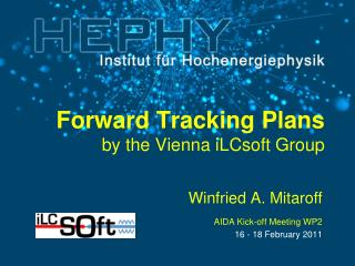 Forward Tracking Plans by the Vienna iLCsoft Group