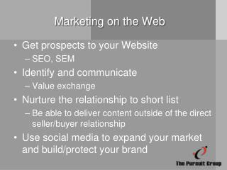 Marketing on the Web