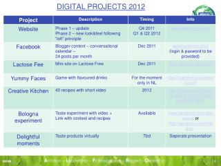 DIGITAL PROJECTS 2012