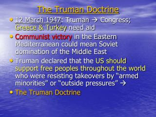 The Truman Doctrine