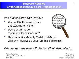 Software-Reviews  Erfahrungsbericht ausdem Projektgeschäft