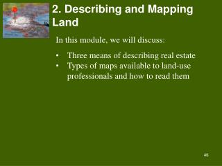 2. Describing and Mapping Land