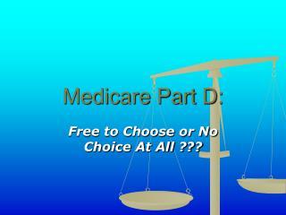 Medicare Part D: