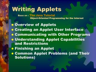 Writing Applets