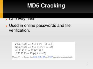 MD5 Cracking