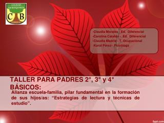 TALLER PARA PADRES 2°, 3° y 4° BÁSICOS: