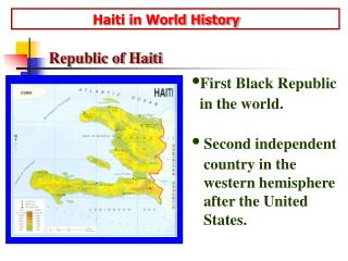 Haiti in World History