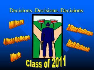 Decisions..Decisions..Decisions