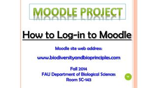 How to Log-in to Moodle