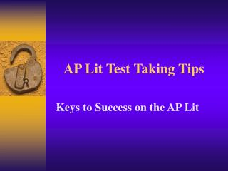 AP Lit Test Taking Tips