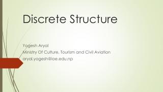 Discrete Mathematical Structures  Logic