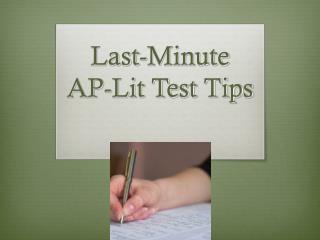 Last-Minute AP-Lit Test Tips