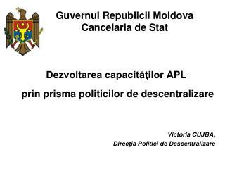 Guvernul Republicii Moldova Cancelaria de Stat