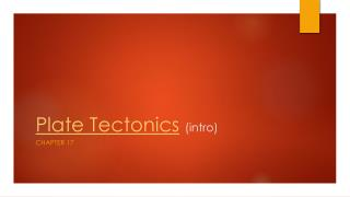 Plate Tectonics (intro)