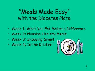 """Meals Made Easy""  with the Diabetes Plate"
