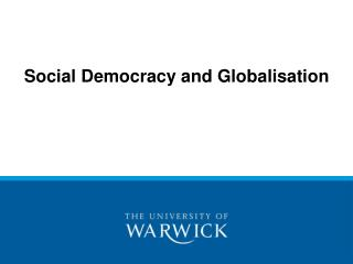 Social Democracy and Globalisation