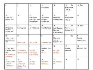 Review Month Calendar
