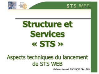 Structure et Services «STS» Aspects techniques du lancement de STS WEB
