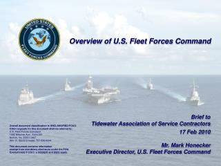 Overview of U.S. Fleet Forces Command