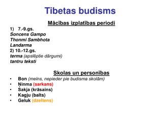 Tibetas budisms