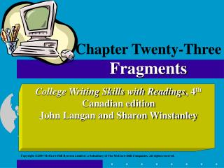 Chapter Twenty-Three Fragments