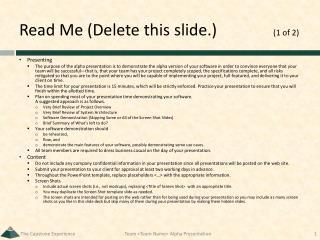 Read Me (Delete this slide.) (1 of 2)