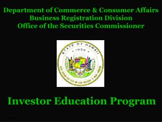 Department of Commerce & Consumer Affairs Business Registration Division