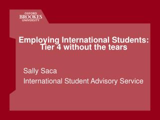 Employing International Students: Tier 4 without the tears