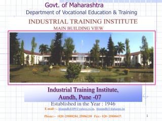 Govt. of Maharashtra