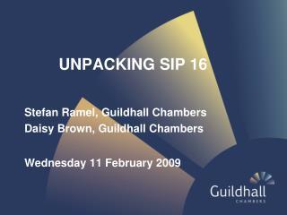 UNPACKING SIP 16