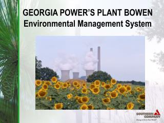 GEORGIA POWER�S PLANT BOWEN Environmental Management System