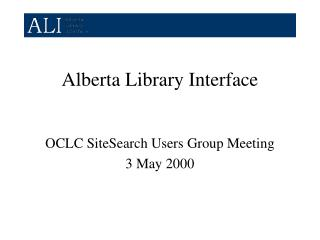 Alberta Library Interface