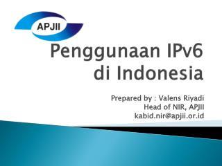 Penggunaan  IPv6 di  Indonesia