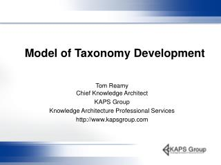 Model of Taxonomy Development
