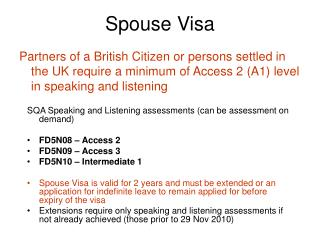 Spouse Visa