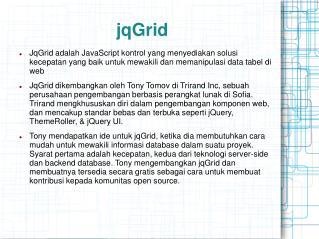 jqGrid