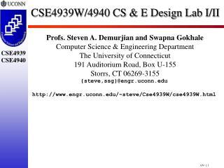 CSE4939W/4940 CS & E Design Lab I/II