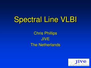 Spectral Line VLBI