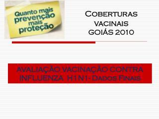 AVALIAÇÃO VACINAÇÃO CONTRA INFLUENZA  H1N1- Dados Finais