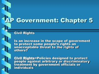 AP Government: Chapter 5