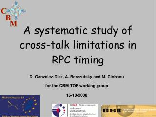 A systematic study of cross-talk limitations in  RPC timing