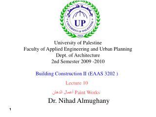 Dr. Nihad Almughany