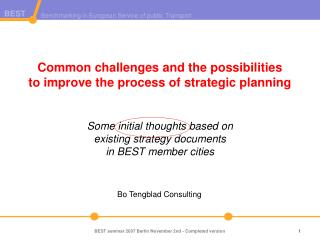 Bo Tengblad Consulting