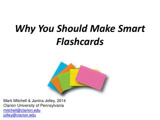 Why You Should Make Smart Flashcards