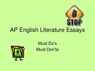 AP English Literature Essays